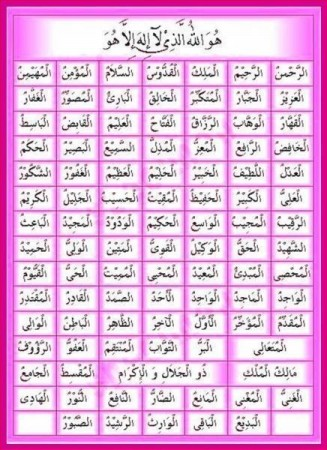 berikut ini adalah 99 nama allah swt asmaul husna beserta maknanya