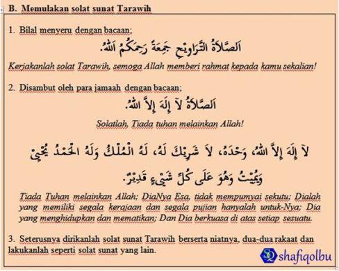Solat Sunat Tarawih Shafiqolbu