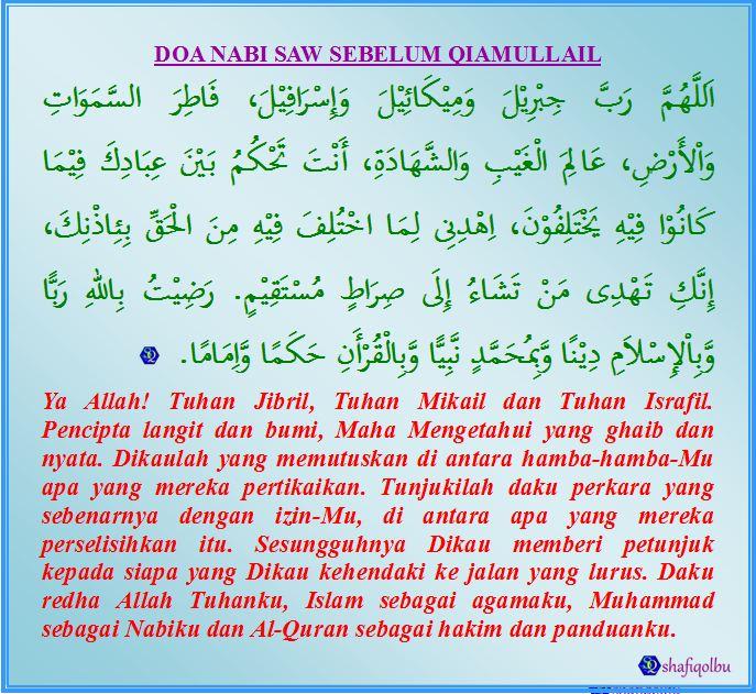 Rasulullah SAW sering membaca doa di bawah sebelum Baginda melakukan ...
