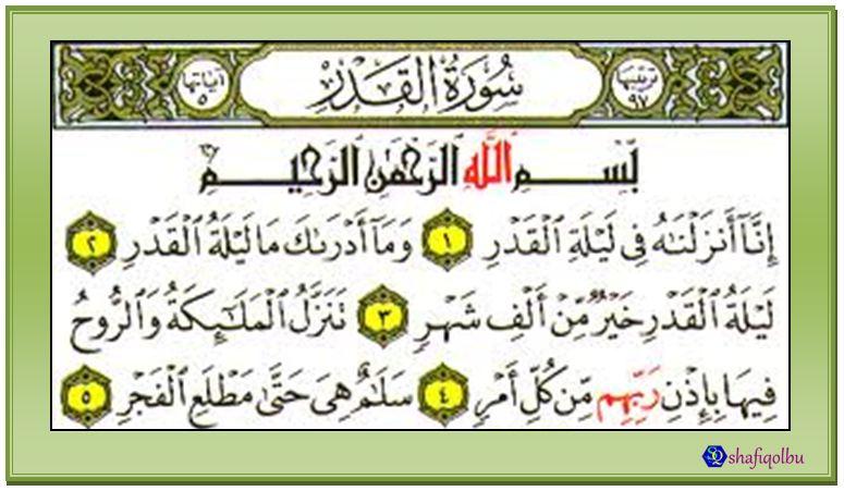 Fadhilat Surah Al-Qadar | Shafiqolbu