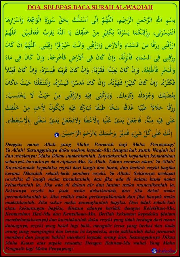 Doa Sesudah Membaca Surah Al-Waqiah | Shafiqolbu