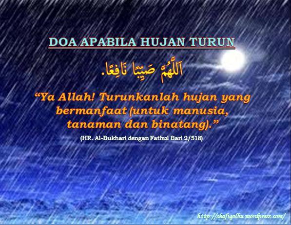Doa Doa Dikala Hujan Shafiqolbu