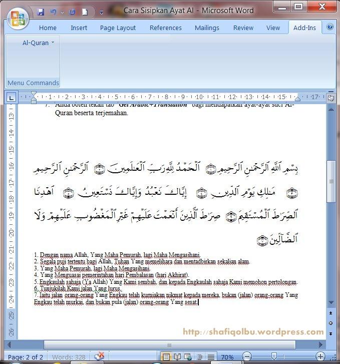 al quran dan terjemahan pdf