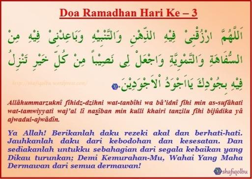 Doa Ramadhan Hari Ke 3