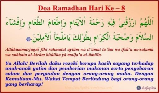 Doa Ramadhan Hari Ke 8