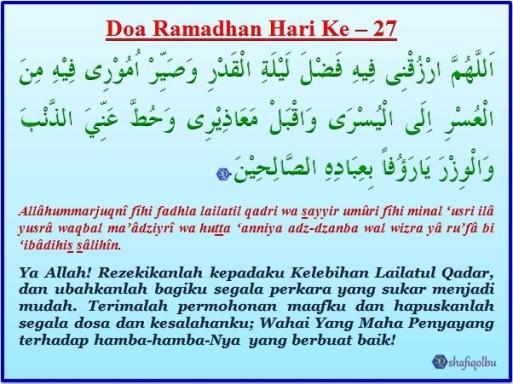 Doa Ramadhan Hari Ke 27