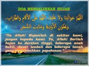 Doa Mengalih Hujan