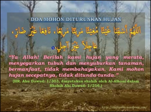 Doa Mohon Diturunkan Hujan 3
