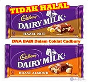 DNA babi dalam coklat Cadbury Dairy Milk
