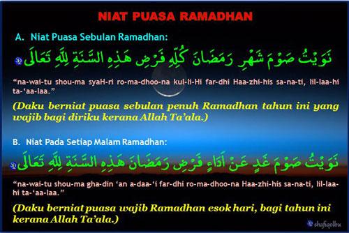 Cara Niat Puasa Di Bulan Ramadhan Harian Dan Sebulan
