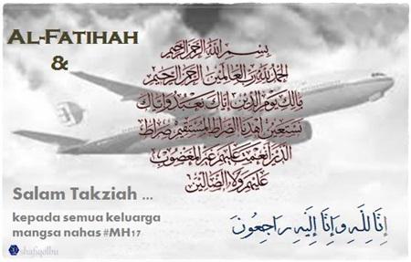 Salam Takziah Hari Malaysia Berkabung MH17