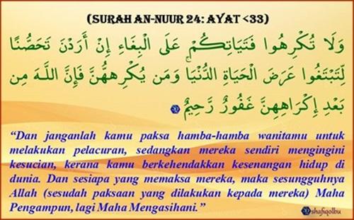 Taubat SQ- An-NUR 24, ayat 33