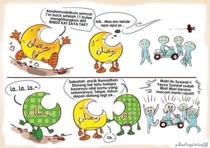 bulan Ramadhan bulan Syawal