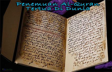 Al-Quran Tertua Di Dunia Ditemui di UK