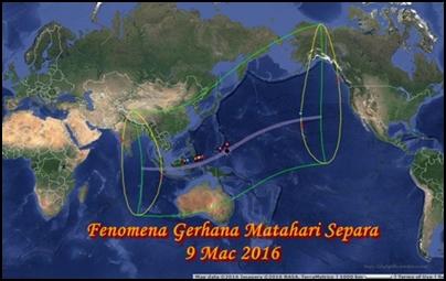 fenomena gerhana matahari 9 Mac 2016